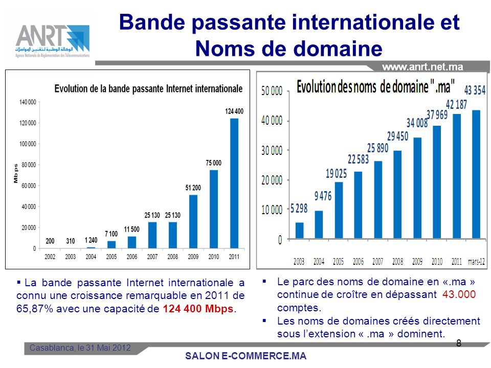 Bande passante internationale et