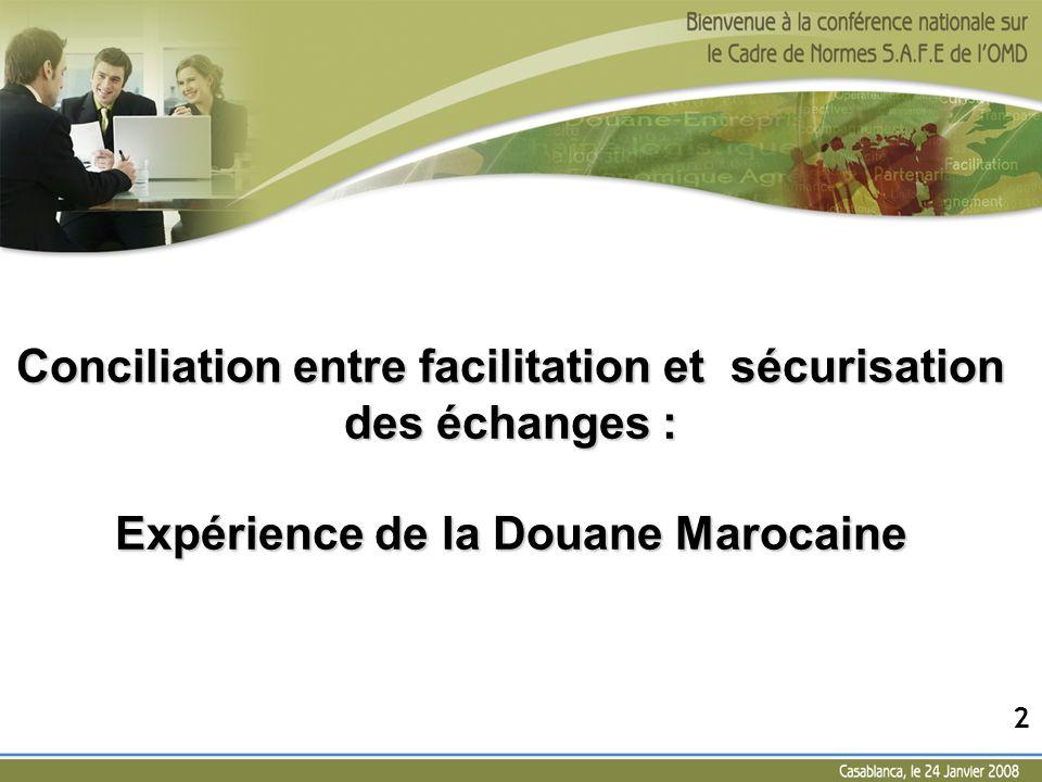 Conciliation entre facilitation et sécurisation des échanges : Expérience de la Douane Marocaine