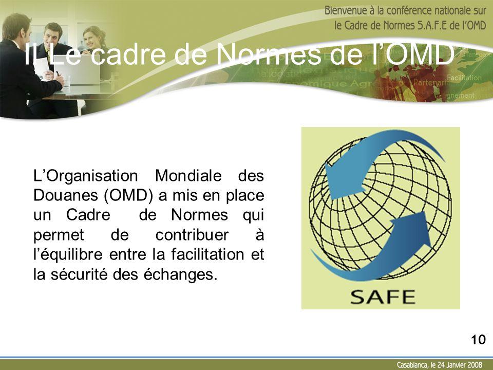 II Le cadre de Normes de l'OMD