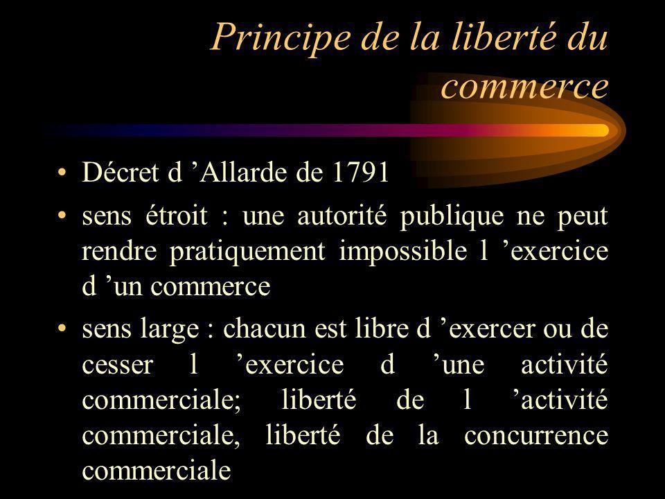 Principe de la liberté du commerce