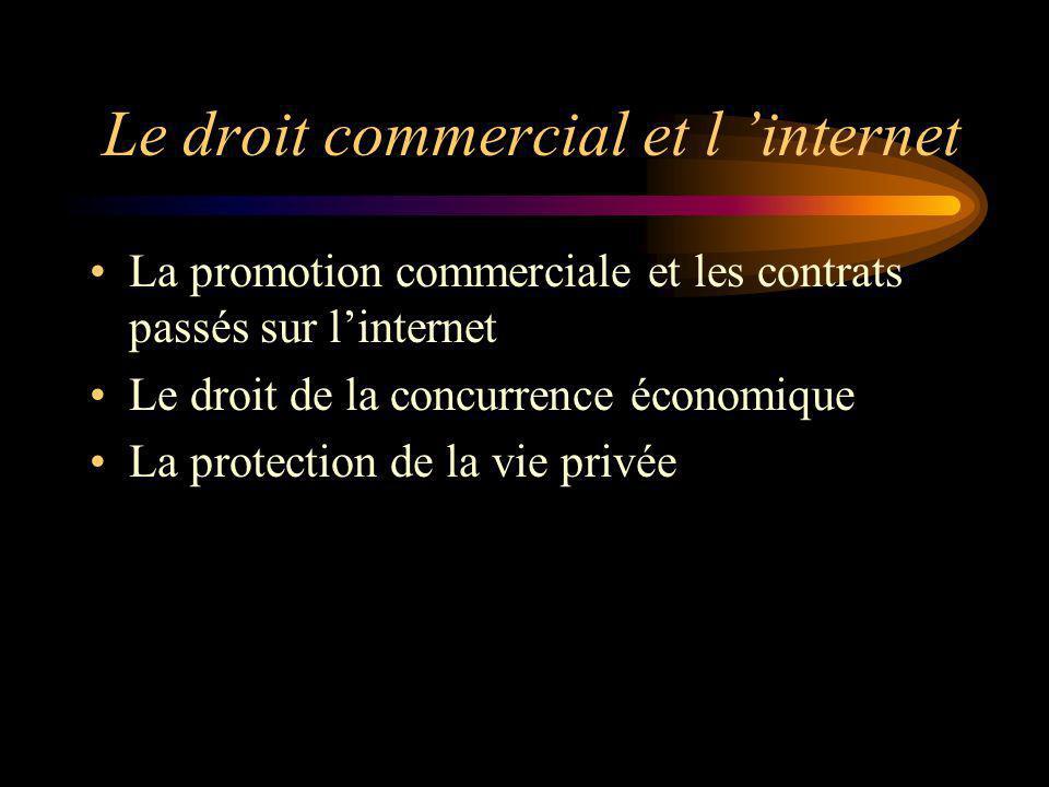 Le droit commercial et l 'internet