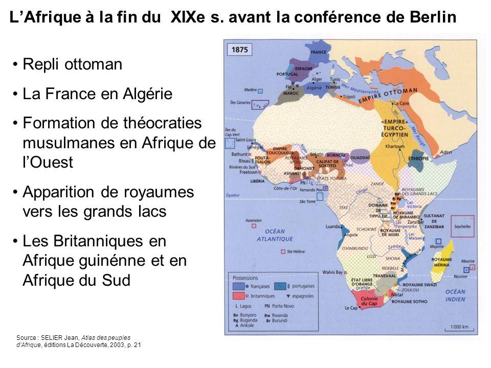 L'Afrique à la fin du XIXe s. avant la conférence de Berlin
