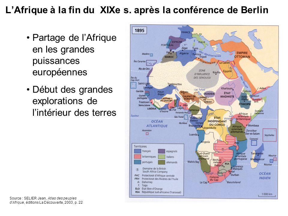L'Afrique à la fin du XIXe s. après la conférence de Berlin