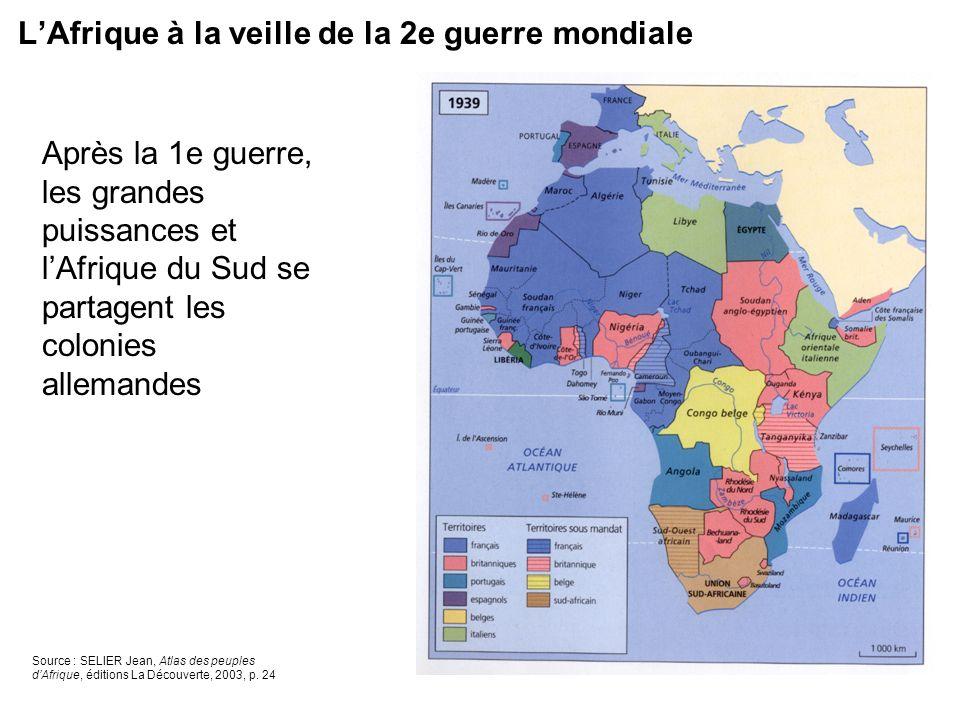L'Afrique à la veille de la 2e guerre mondiale