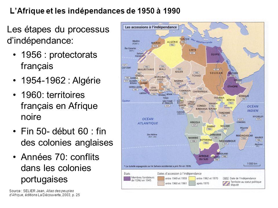 L'Afrique et les indépendances de 1950 à 1990