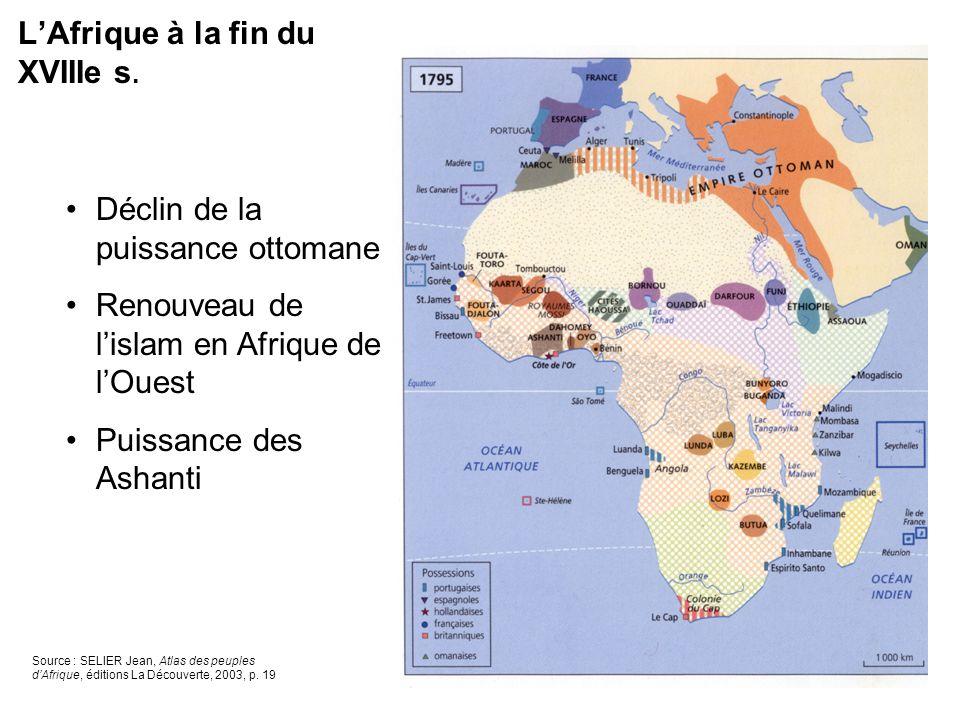 L'Afrique à la fin du XVIIIe s.