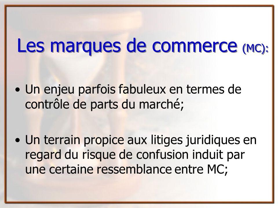 Les marques de commerce (MC):