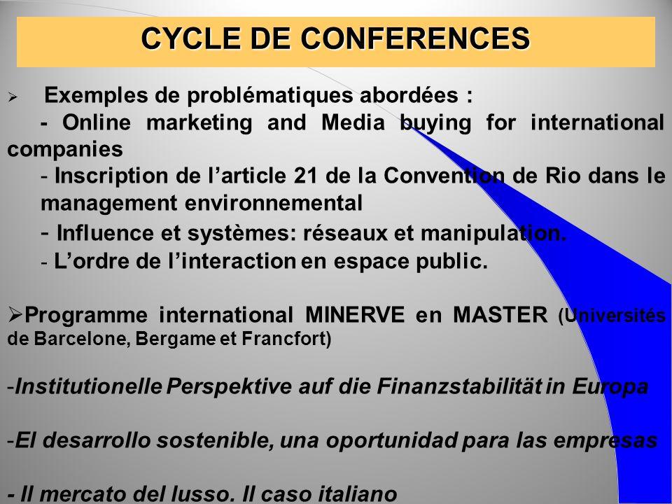 CYCLE DE CONFERENCES Influence et systèmes: réseaux et manipulation.