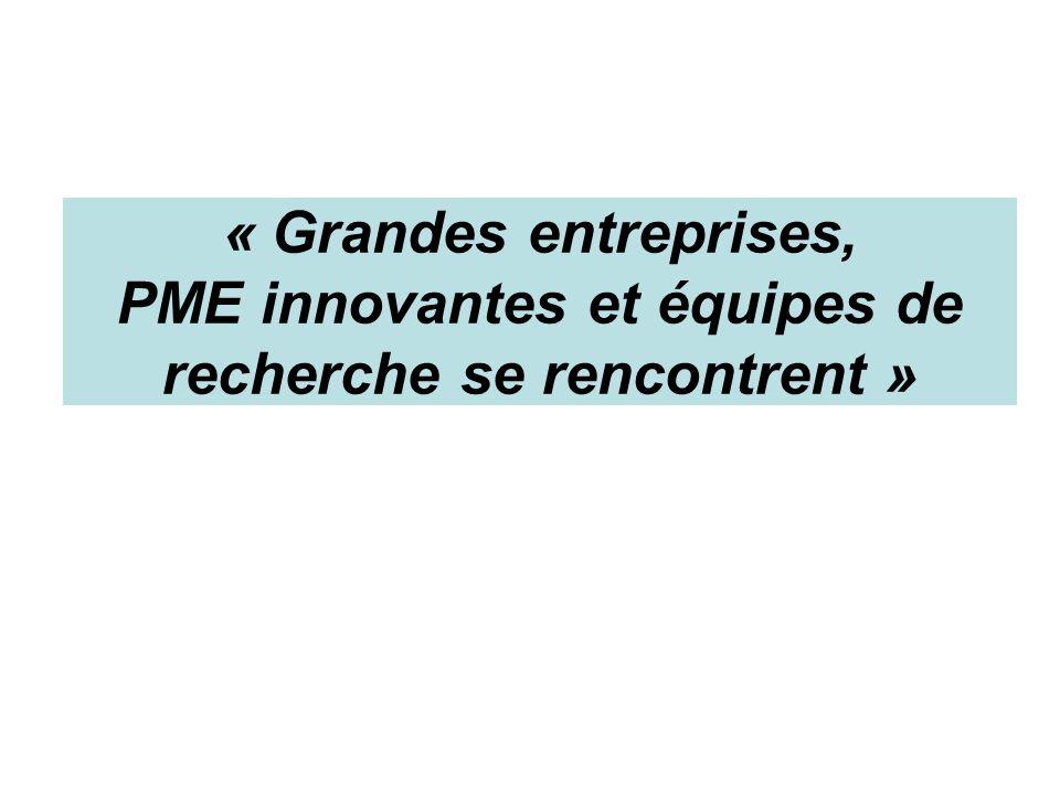 « Grandes entreprises, PME innovantes et équipes de recherche se rencontrent »