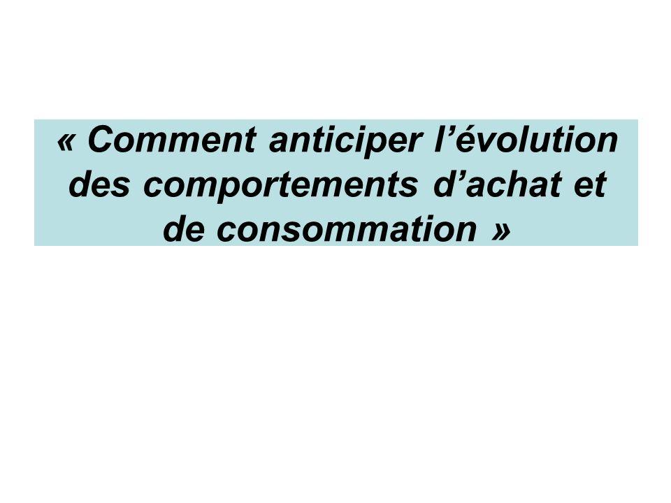 « Comment anticiper l'évolution des comportements d'achat et de consommation »