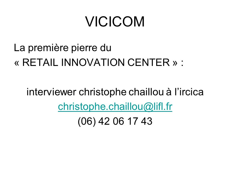 interviewer christophe chaillou à l'ircica