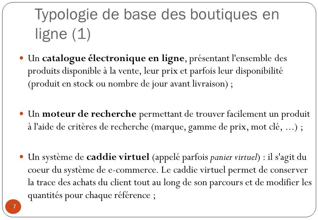 Typologie de base des boutiques en ligne (1)