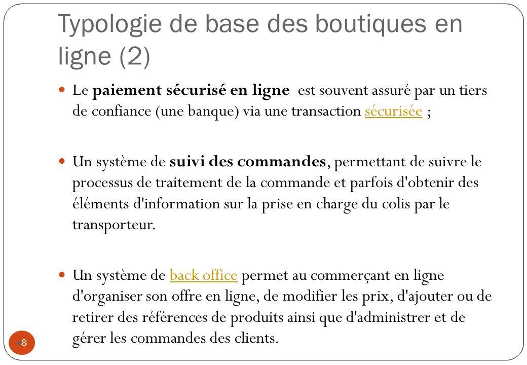 Typologie de base des boutiques en ligne (2)
