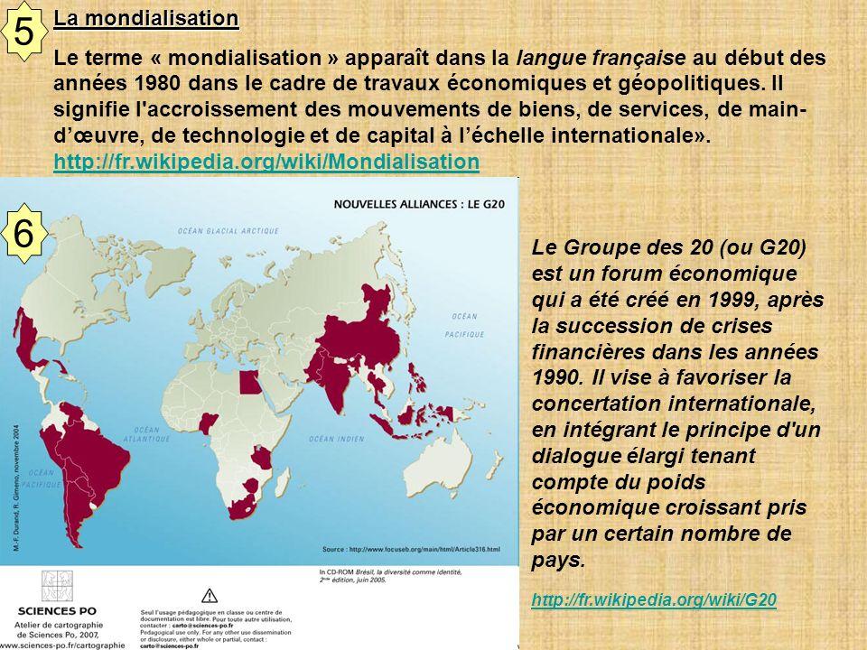 5 La mondialisation.