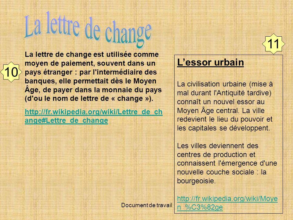 La lettre de change 11 10 L'essor urbain