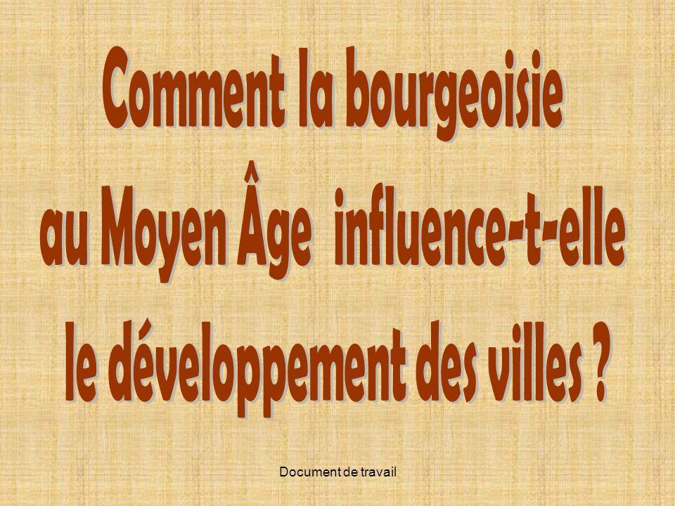 Comment la bourgeoisie au Moyen Âge influence-t-elle