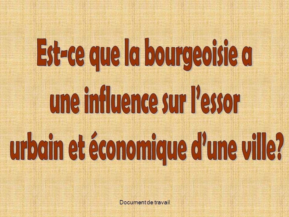 Est-ce que la bourgeoisie a une influence sur l'essor