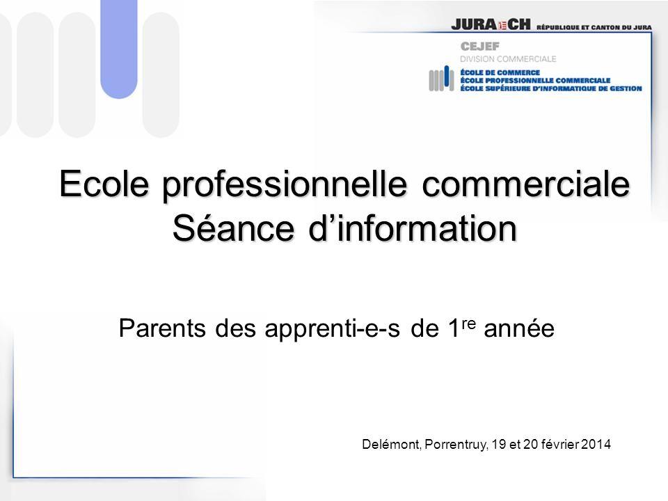 Ecole professionnelle commerciale Séance d'information