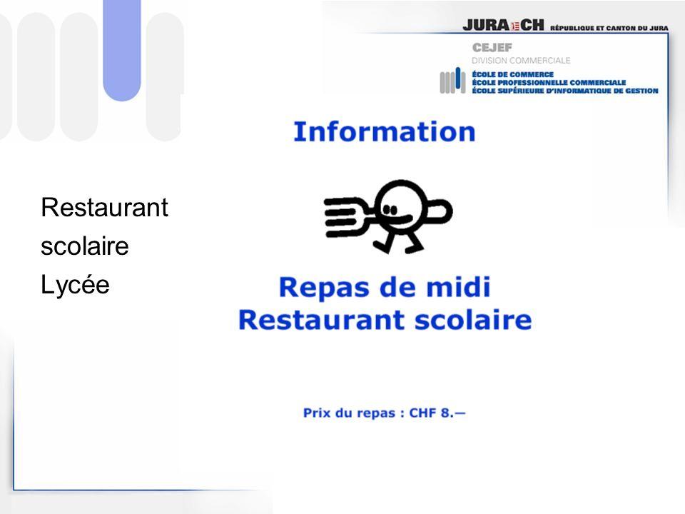 Restaurant scolaire Lycée
