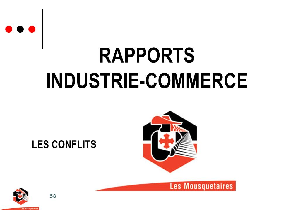 RAPPORTS INDUSTRIE-COMMERCE
