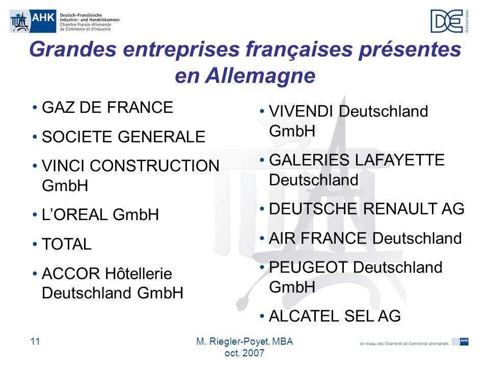 Grandes entreprises françaises présentes