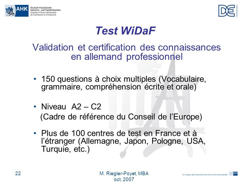 M. Riegler-Poyet, MBA oct. 2007