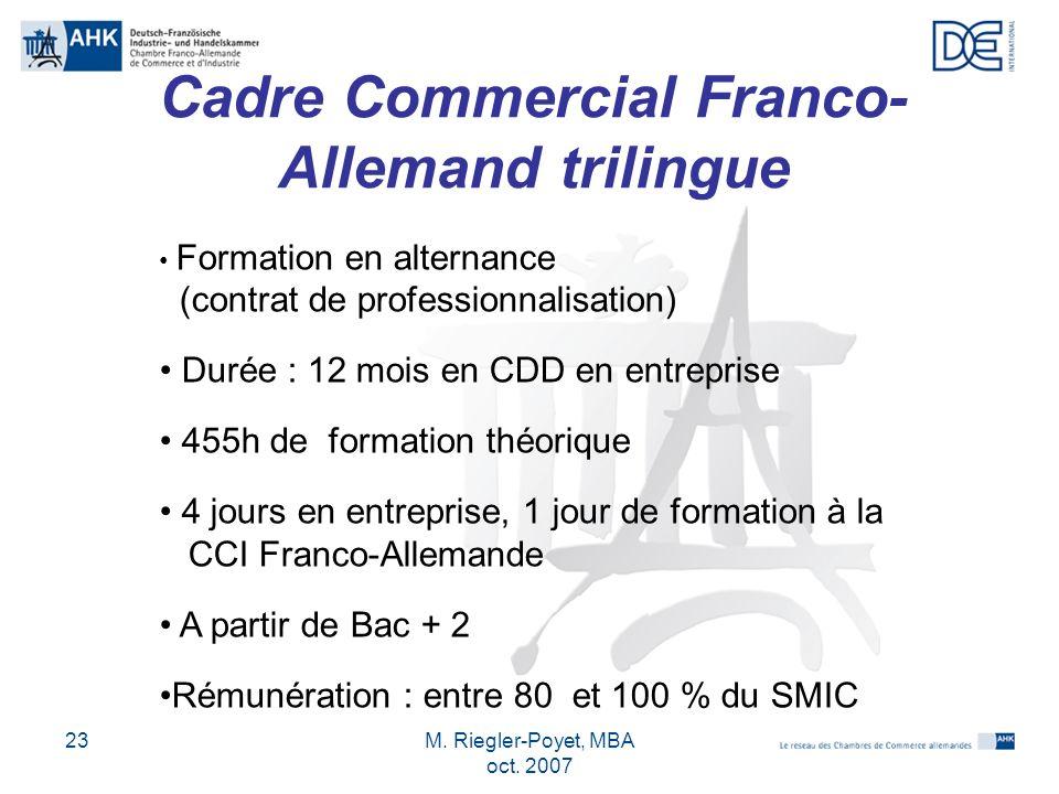 Cadre Commercial Franco-Allemand trilingue