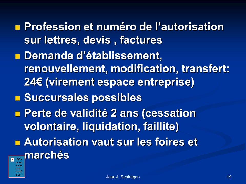 Profession et numéro de l'autorisation sur lettres, devis , factures