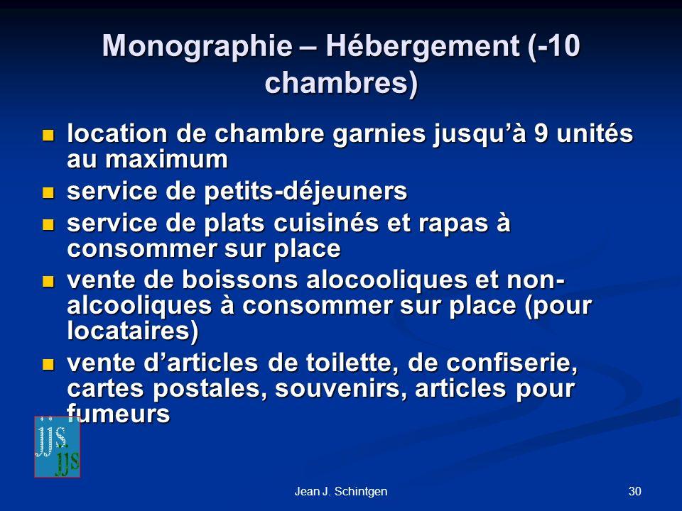 Monographie – Hébergement (-10 chambres)