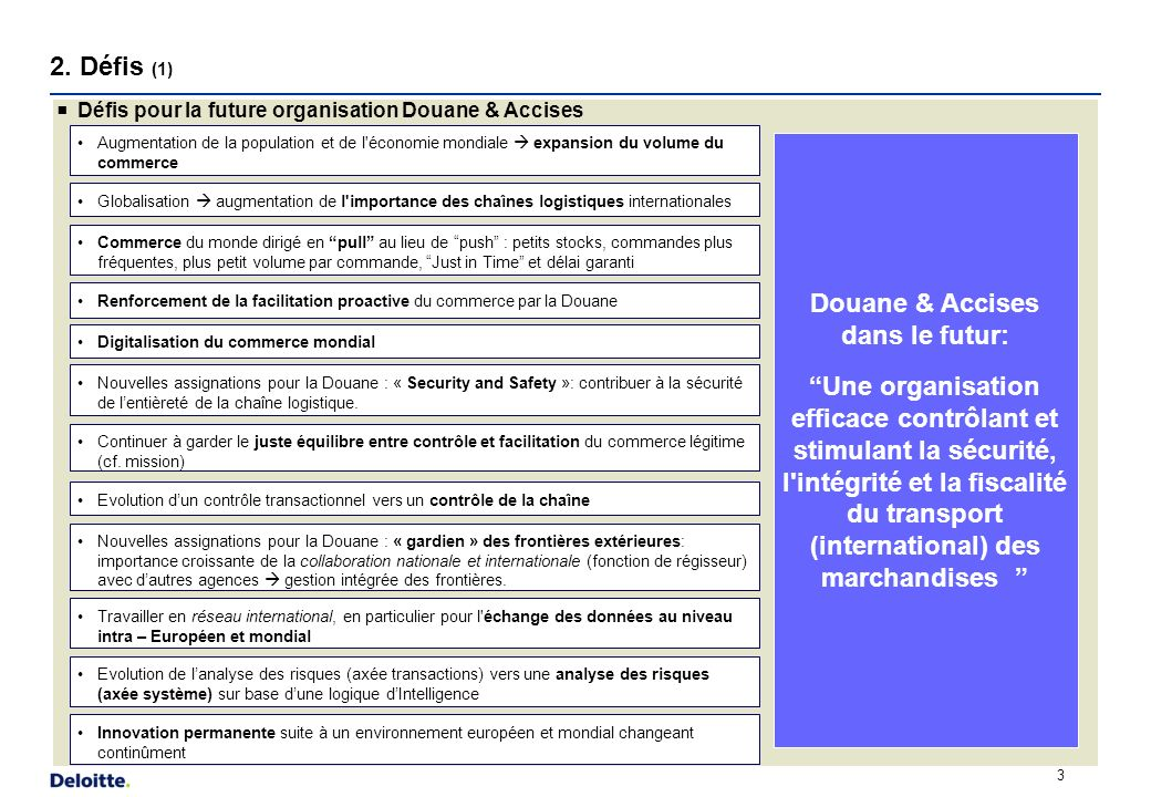 2. Défis (2) DEFI Juste équilibre entre contrôle facilitation