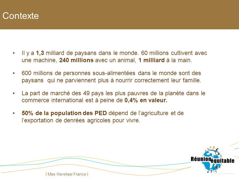 Contexte Il y a 1,3 milliard de paysans dans le monde. 60 millions cultivent avec une machine, 240 millions avec un animal, 1 milliard à la main.