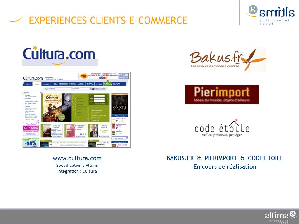 EXPERIENCES CLIENTS E-COMMERCE