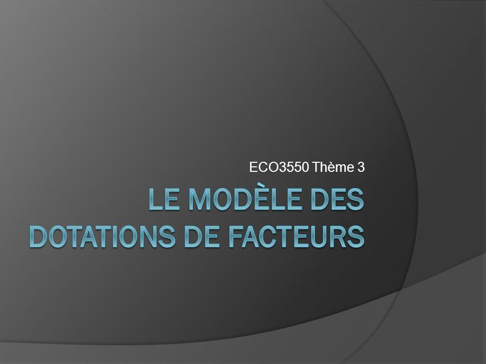 Le modèle des dotations de facteurs