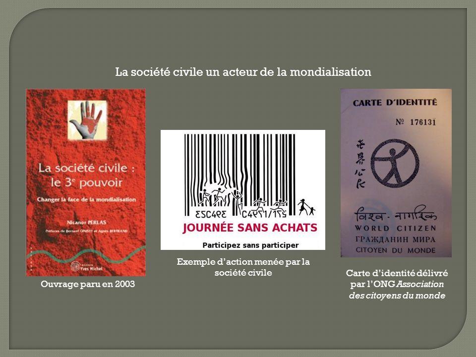 La société civile un acteur de la mondialisation