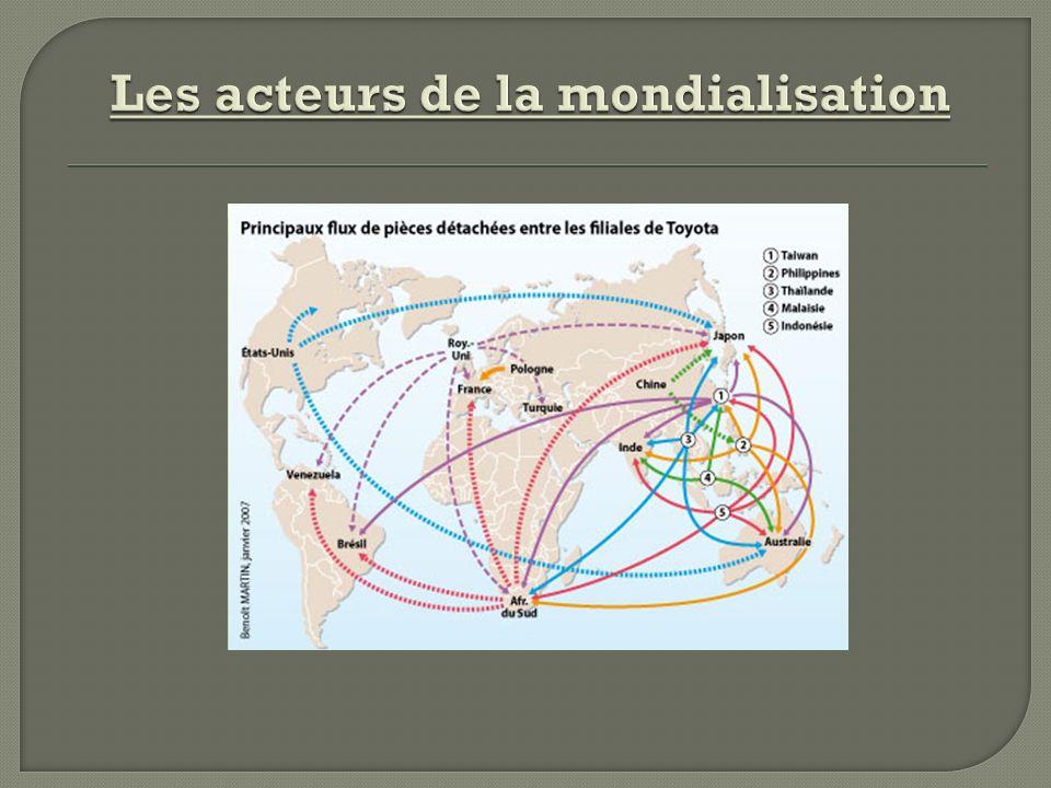Les acteurs de la mondialisation