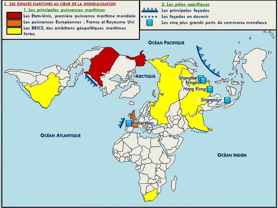 Océan Pacifique Arctique Océan Atlantique Océan Indien