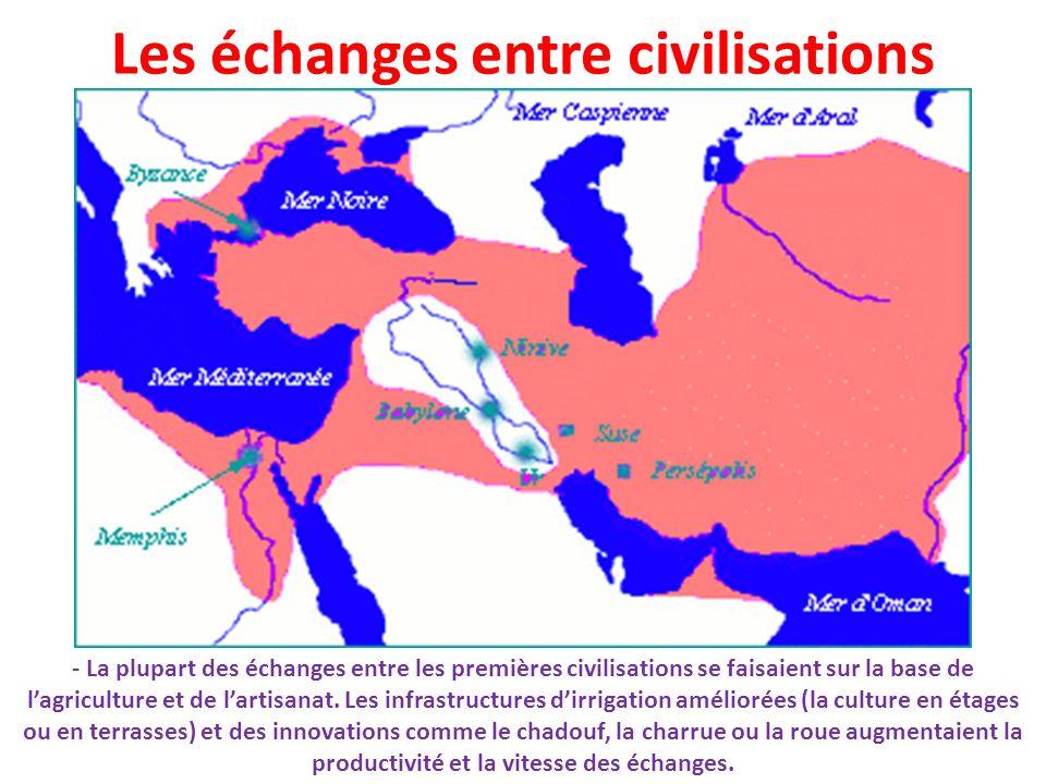 Les échanges entre civilisations
