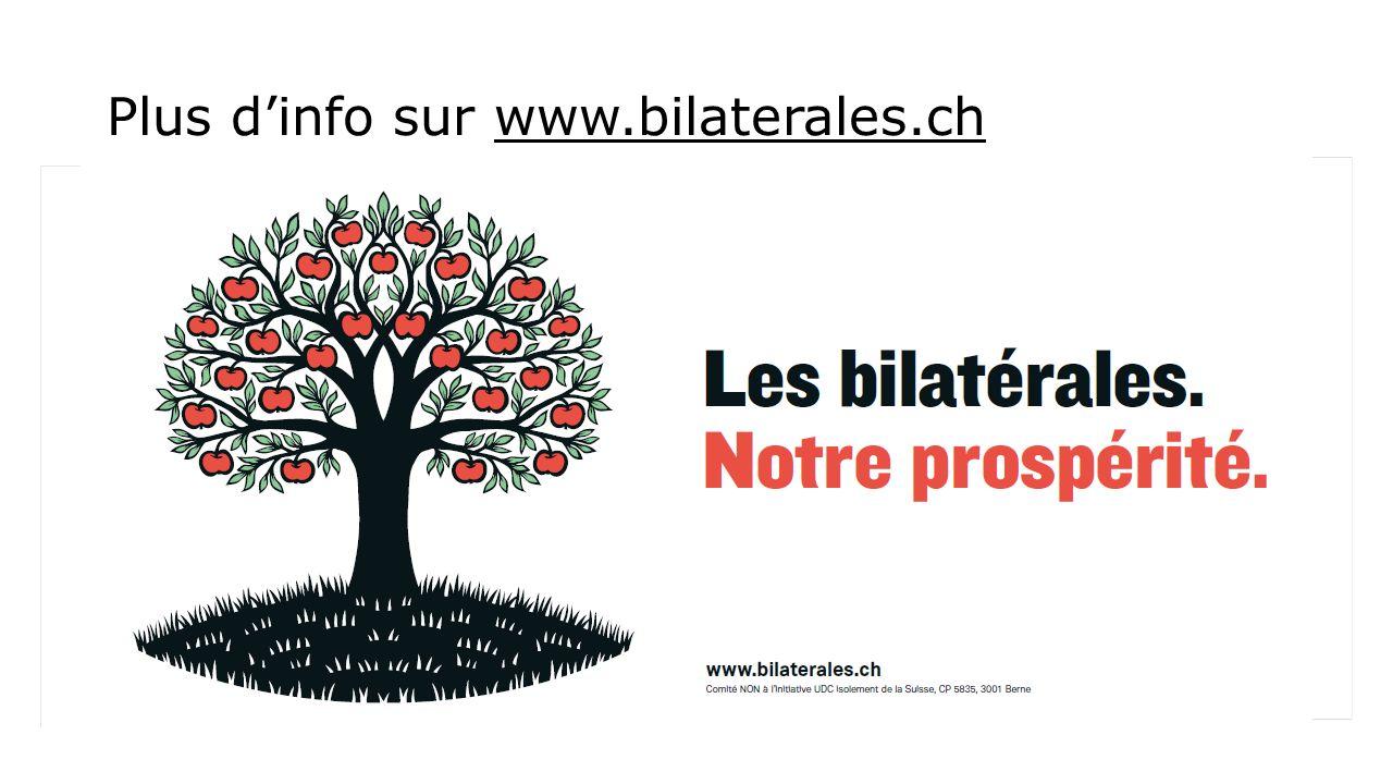 Plus d'info sur www.bilaterales.ch