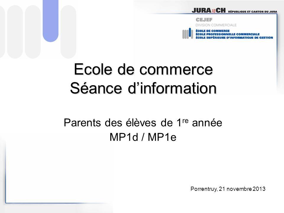 Ecole de commerce Séance d'information