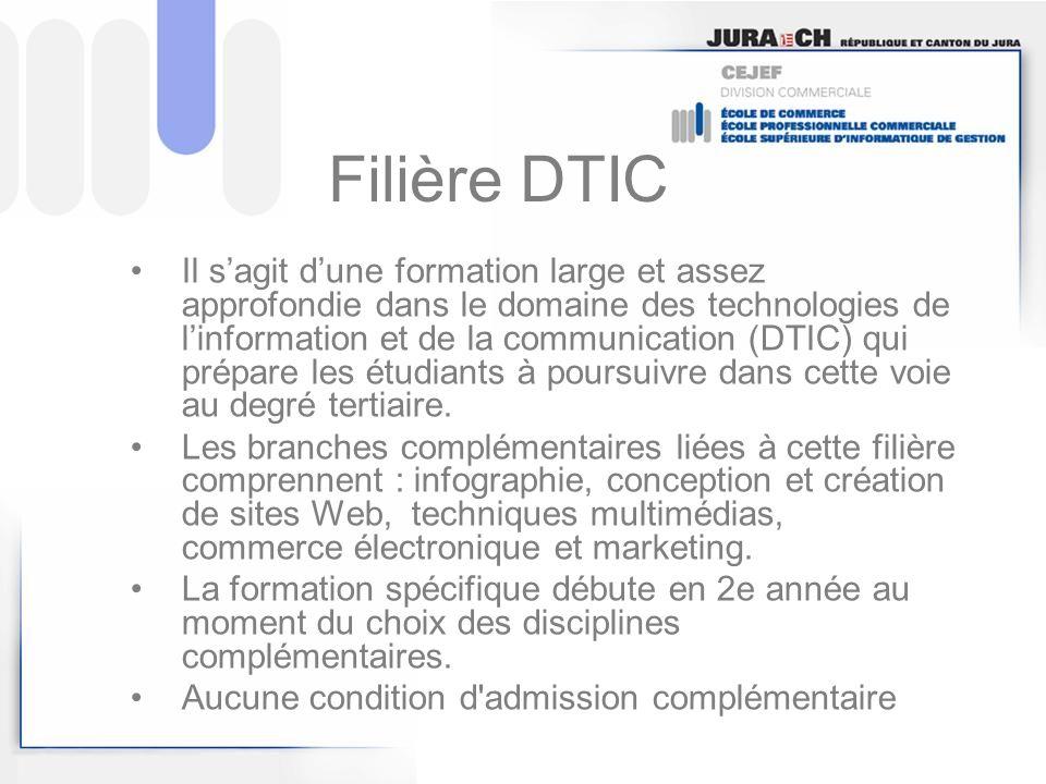 Filière DTIC