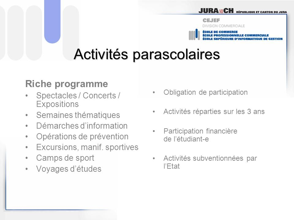 Activités parascolaires