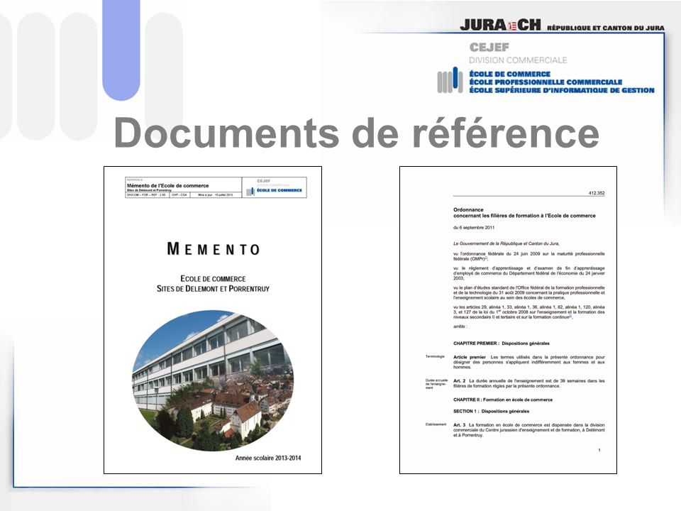 Documents de référence