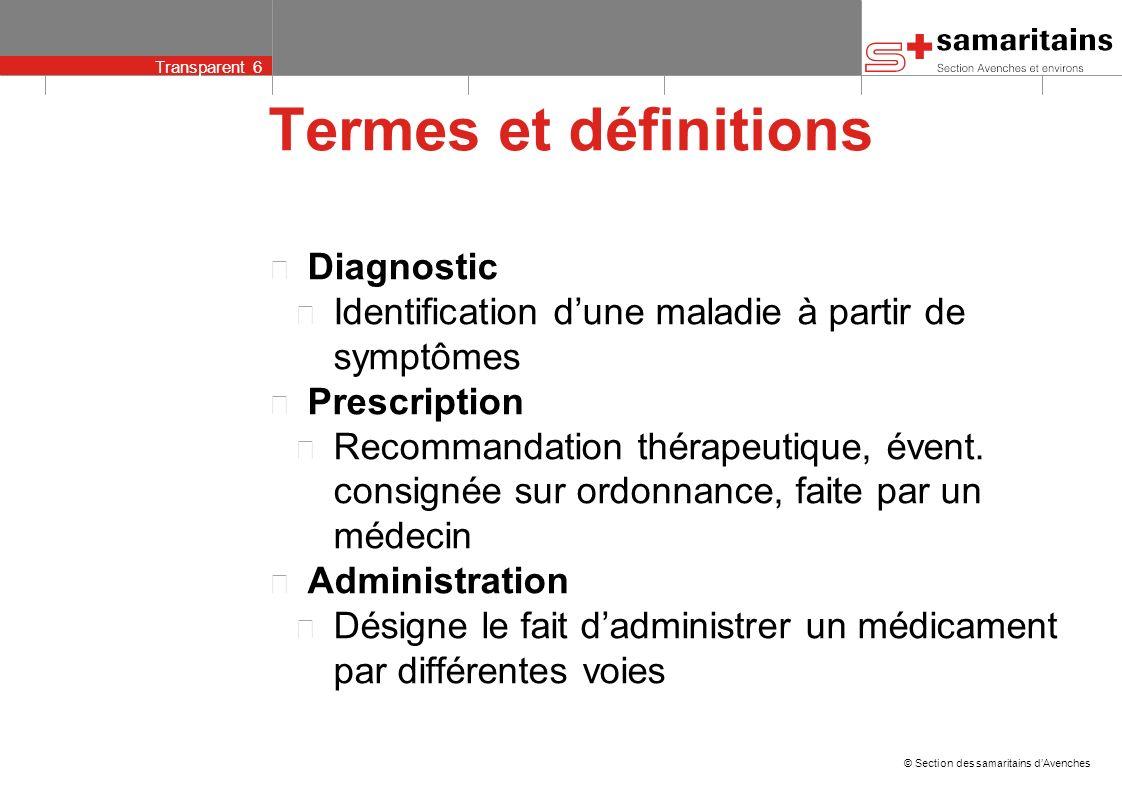 Termes et définitions Diagnostic