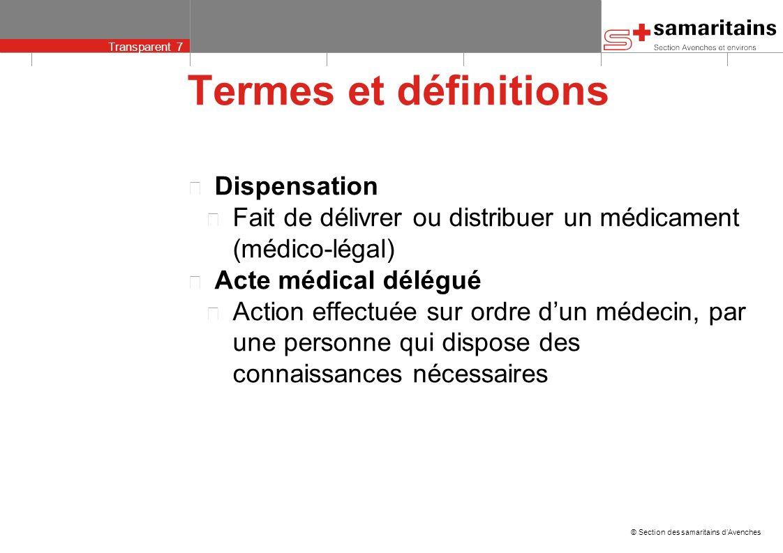 Termes et définitions Dispensation