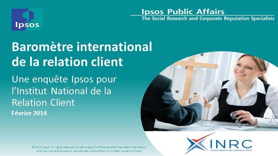 Baromètre international de la relation client