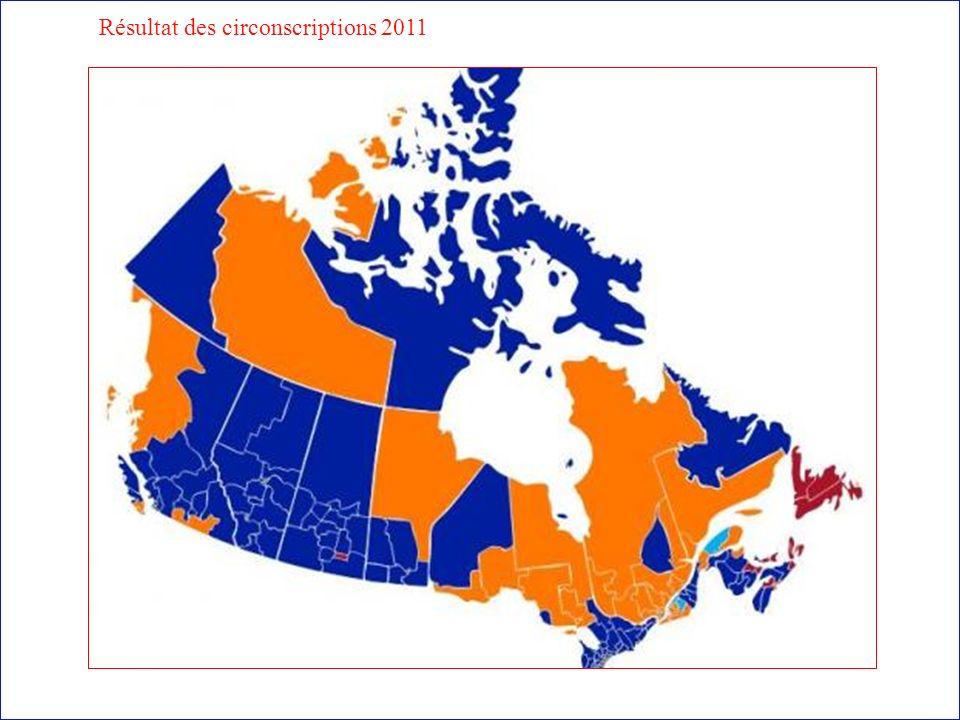 Résultat des circonscriptions 2011