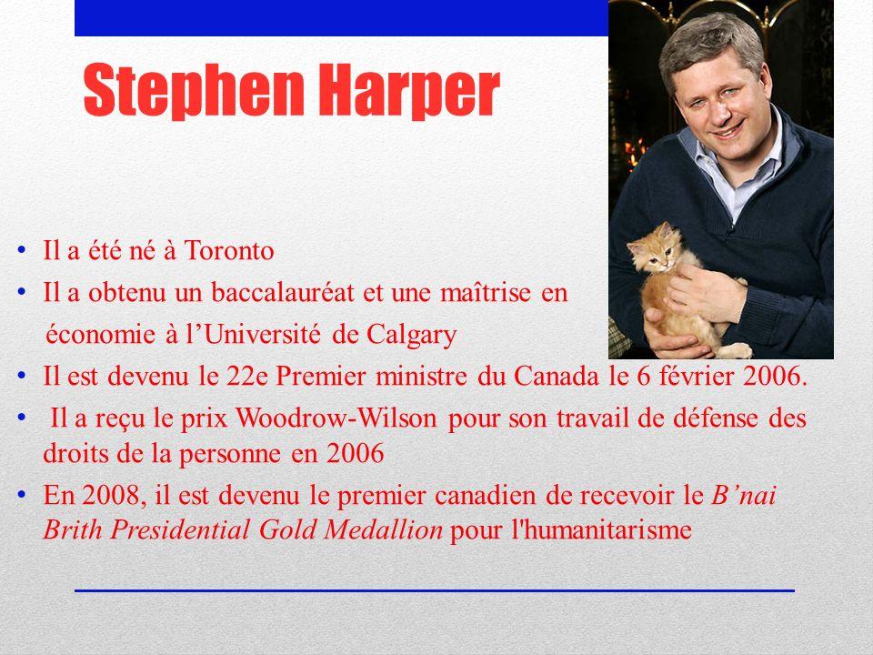 Stephen Harper Il a été né à Toronto