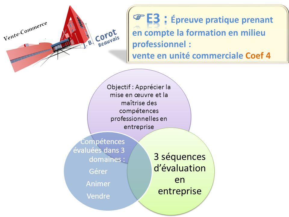 3 séquences d'évaluation en entreprise