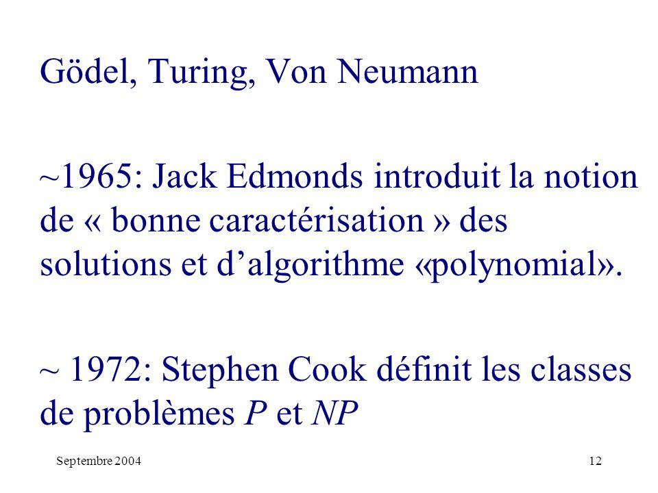 Gödel, Turing, Von Neumann