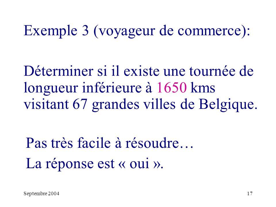 Exemple 3 (voyageur de commerce):